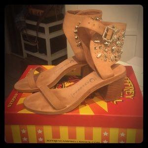 Jeffrey Campbell $195 Des Moines studded sandals!